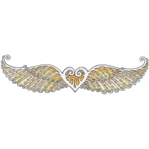 heart wings small logo white square