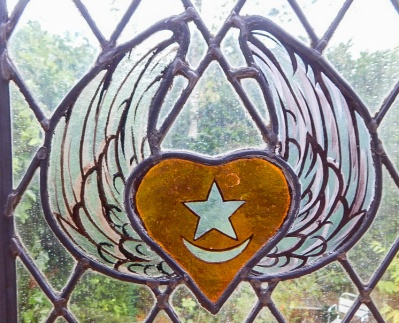 Sufi Winged Heart in Glass
